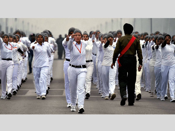 NCC cadets rehearse for Republic Day