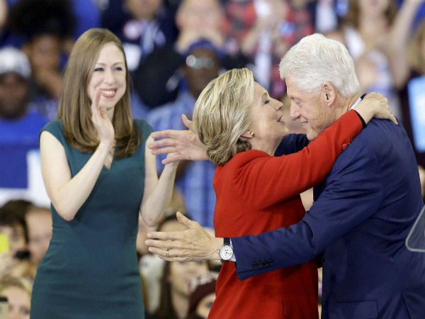 Former president Bill Clinton and 2016 presidential election nominee Hillary Clinton