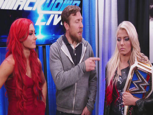 From left: Becky Lunch, Daniel Bryan and Alexa Bliss (Image courtesy: wwe.com)