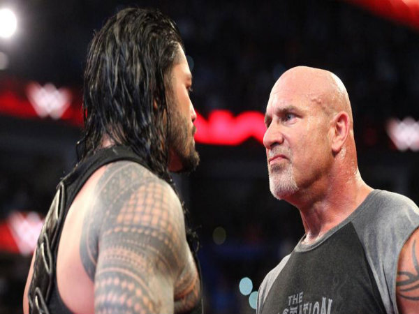 Goldberg confronted Roman Reigns on Raw (Image courtesy: wwe.com)