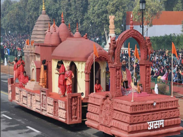 Assam tableau displays Kamakhya temple at R-Day parade: