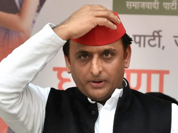 Uttar Pradesh Chief Minister Akhilesh Yadav unveils party manifesto ahead of assembly election, in Lucknow.