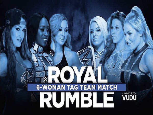 6-women tag team match (Image courtesy: WWE Twitter)