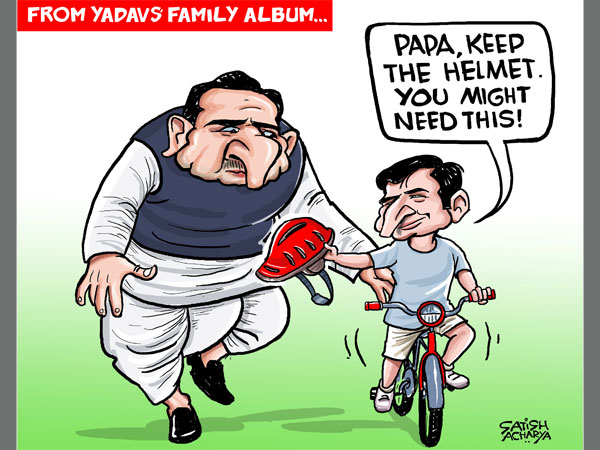CARTOON: Will Akhilesh get better of Mulayam