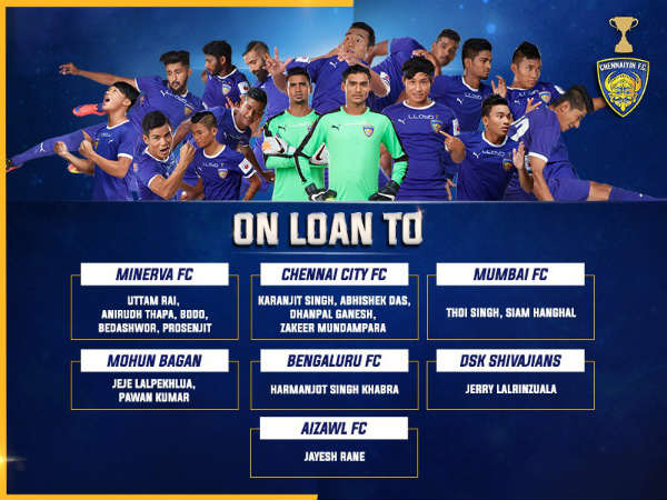 List of loaned footballers from Chennaiyin FC