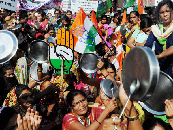 Congress protests against demonetisation