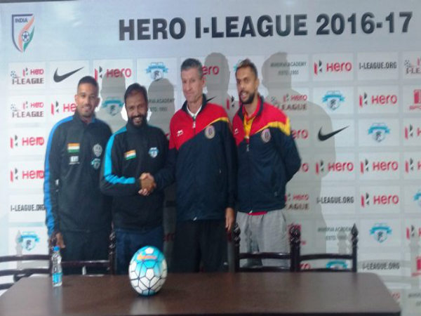 Minerva (left) Vs East Bengal (Image courtesy: I-League Twitter handle)