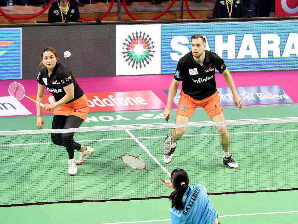 File photo: Jwala Gutta (left) with his Delhi Acers partner Vladimir Ivanov