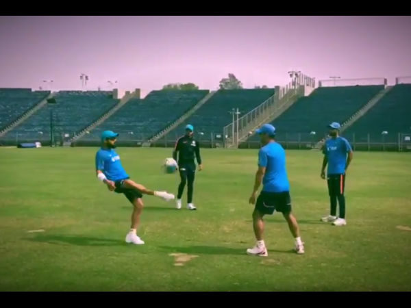 Must see video: Virat Kohli, MS Dhoni play football before hitting the nets in Pune