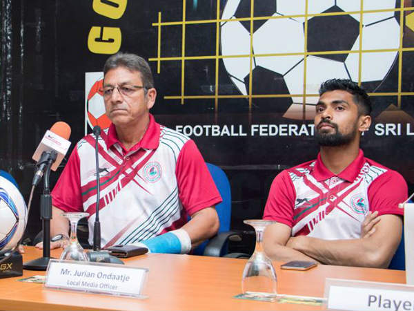 From left: Mohun Bagan coach Sanjay Sen and captain Shilton Paul (Image courtesy: Mohun Bagan Twitter handle)