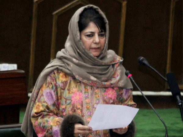 File photo of Jammu and Kashmir Chief Minister Mehbooba Mufti addressing the Legislative Assembly