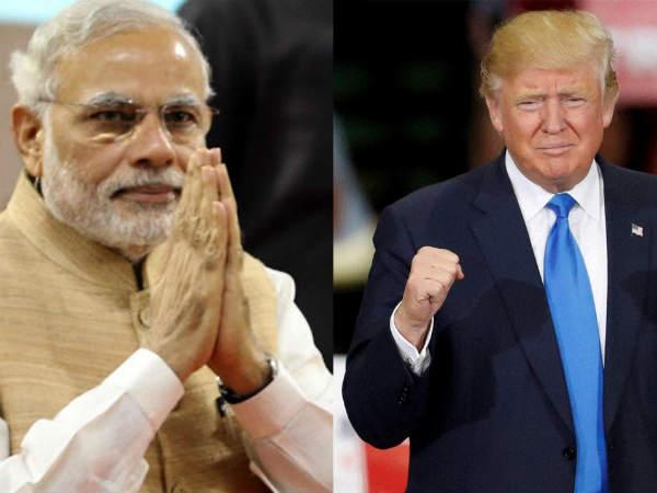What did Modi present to Trump?