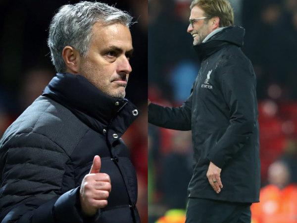 From left: Jose Mourinho and Jurgen Klopp