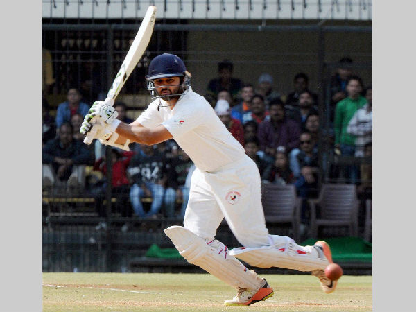 Parthiv Patel plays a shot on way to a match-winning 143