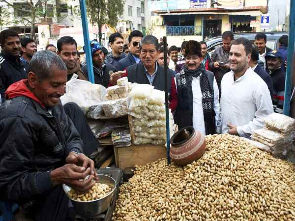 CAPTION THIS! Why is Rahul Gandhi buying groundnuts?