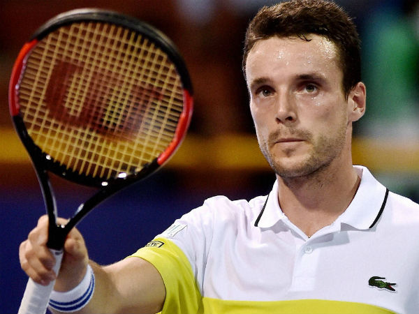 File photo: Roberto Bautista Agut celebrates one of his wins in Chennai Open 2017