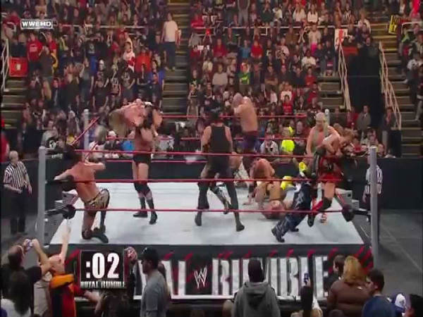 The Royal Rumble match (Image courtesy: Youtube)