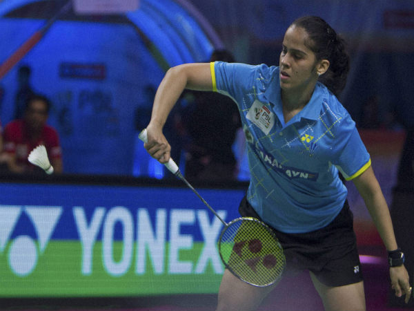 Saina Nehwal in action for Awadhe Warriors