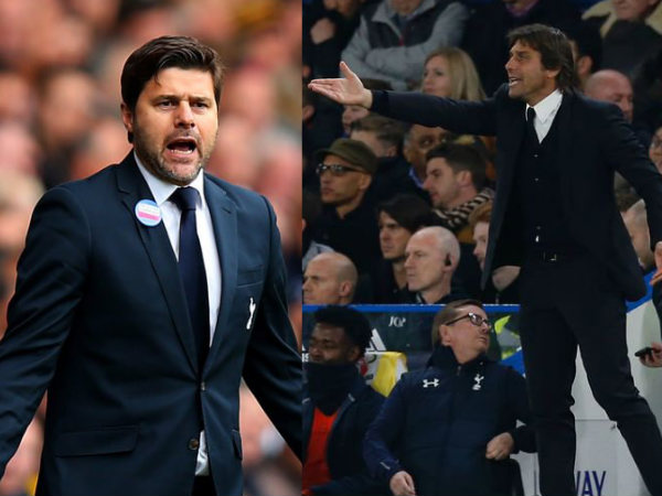From left: Mauricio Pochettino and Antonio Conte (Image courtesy: Tottenham and Chelsea Twitter handles)