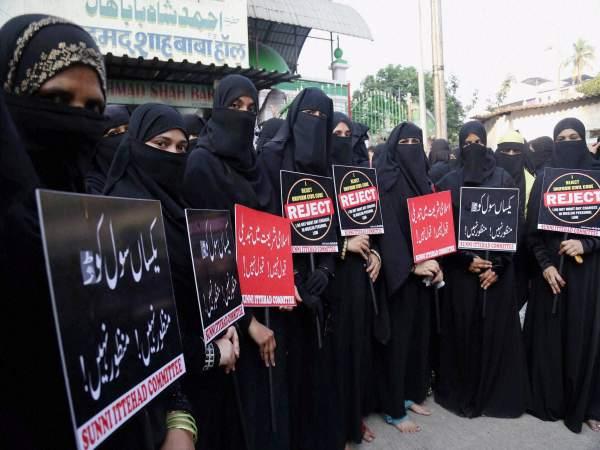 Muslim women protest for abolishing the practice of triple Talaq in this photograph taken on October 22, 2016. Photograph for representation only.