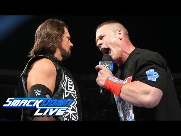 Styles and Cena will collide for the WWE championship (image courtesy Youtube)
