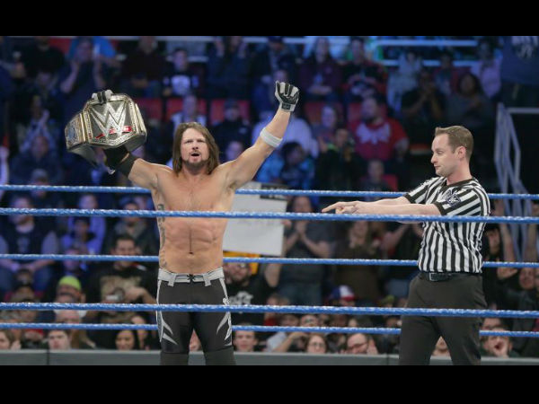 AJ Styles is rumoured to get a dream match at Wrestlemania (image courtesy WWE.com)