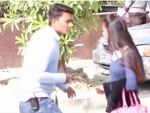 Police contact one girl from 'kissing prank' video