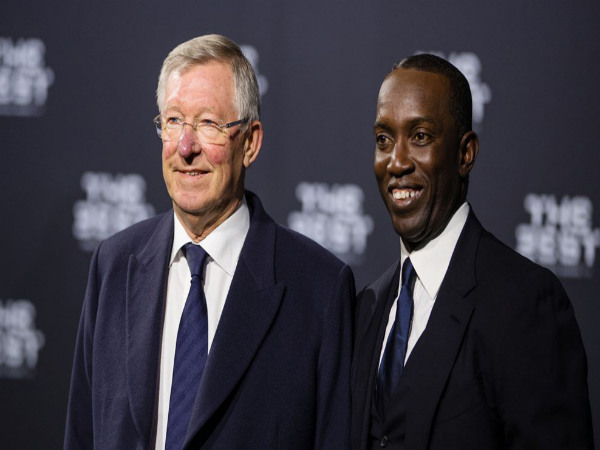 From left: Sir Alex Ferguson and Dwight Yorke