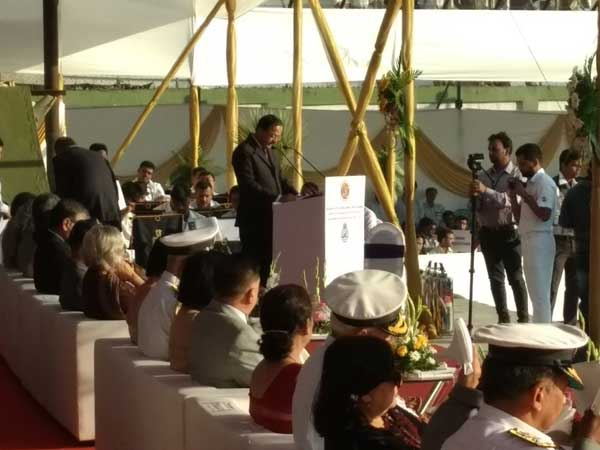 MoS for Defence Subhash Bhamre addresses the event