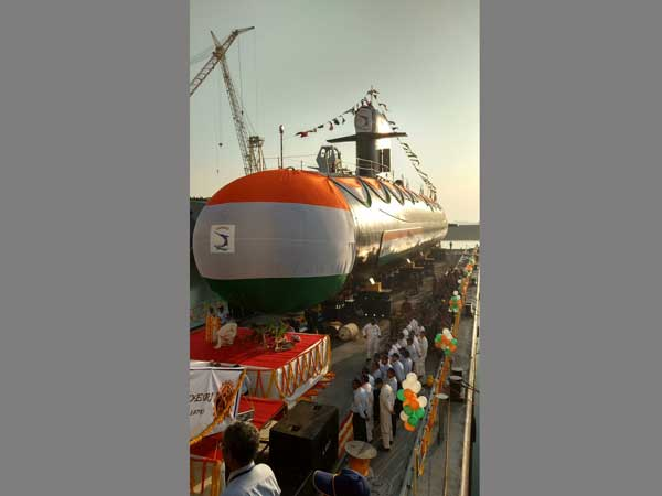 INS Khanderi was launched in Mumbai