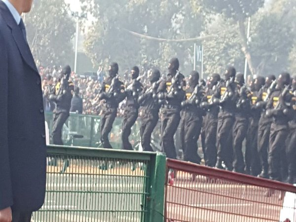 Commando forces marching on Rajpath