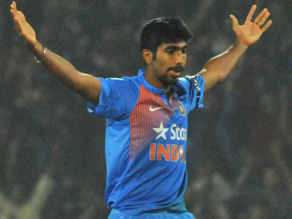 Jasprit Bumrah reacts after delivering a 5-run win for India in 2nd T20I in Nagpur