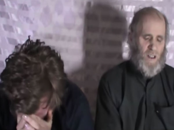 Afghan Taliban video shows American, Australian hostages