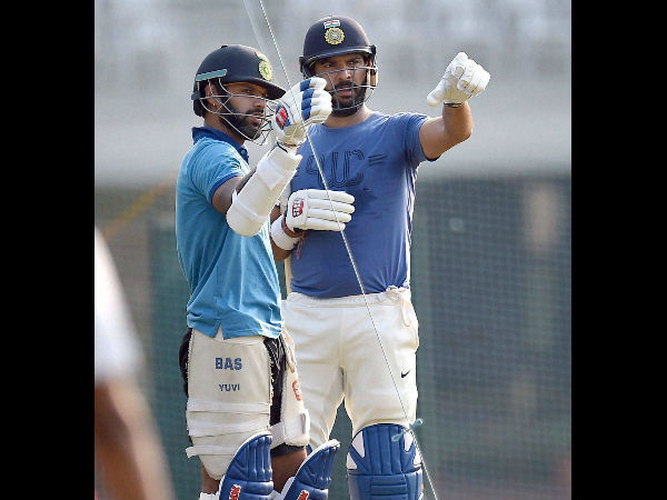 India Vs England: With eye on Playing XI spots, Yuvraj Singh and Shikhar Dhawan sweat it out in nets