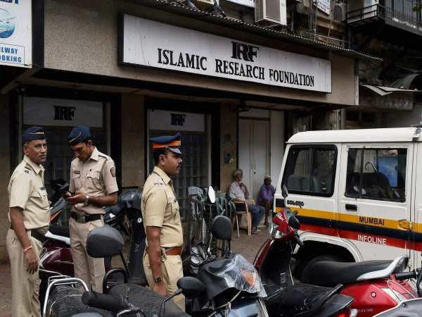 Police personnel guarding outside Islamic Research Foundation, the office of Islamic preacher, Zakir Naik in Mumbai in this photograph taken on July 11, 2016.