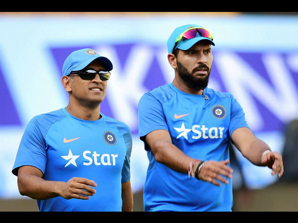 Dhoni-Yuvraj practicing together