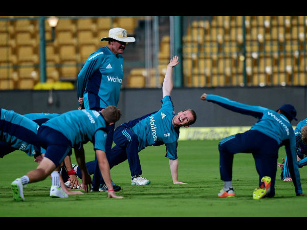 Captain Eoin Morgan leads team in the nets
