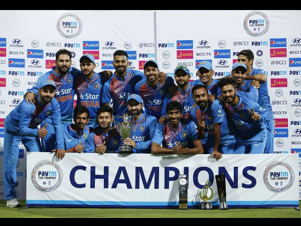 Team India hailed champions