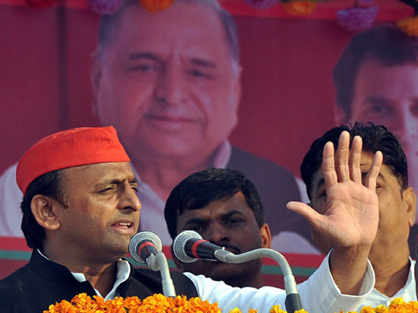 Flag march in sensitive areas of UP for tomorrow's poll