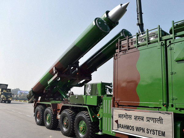 File photo of BrahMos missile at a Republic Day parade