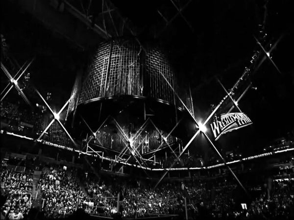 The Elimination Chamber structure (Image courtesy: WWE Twitter)