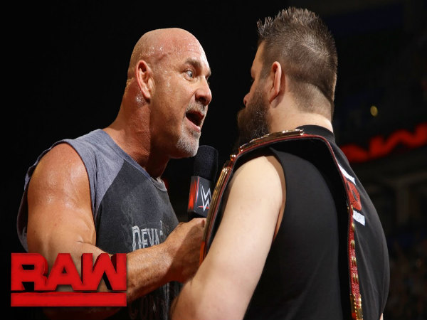 Golberg facing Owens on Raw (Image courtesy: Youtube)