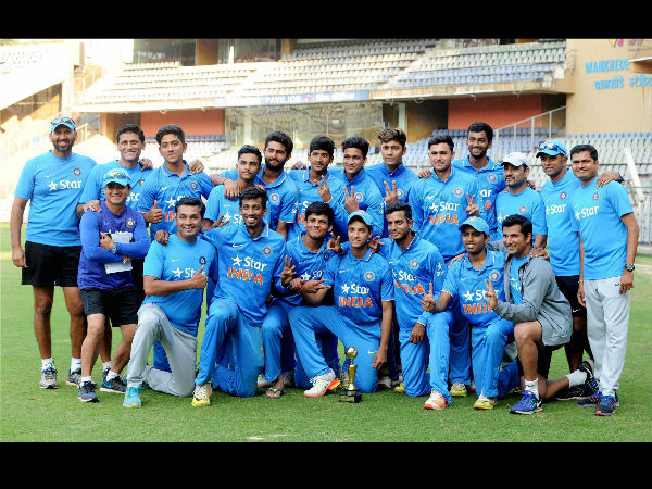 India and England 5th ODI ends in a tie, India colts clinch series 3-1