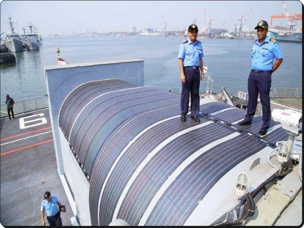 INS Sarvekshak instals solar power system