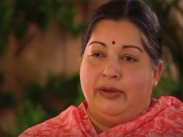 File photo of former Tamil Nadu chief minister Jayalalithaa