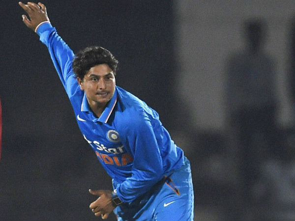 File photo: India A's Kuldeep Yadav bowls against England in a one-day game in Mumbai on January 10, 2017