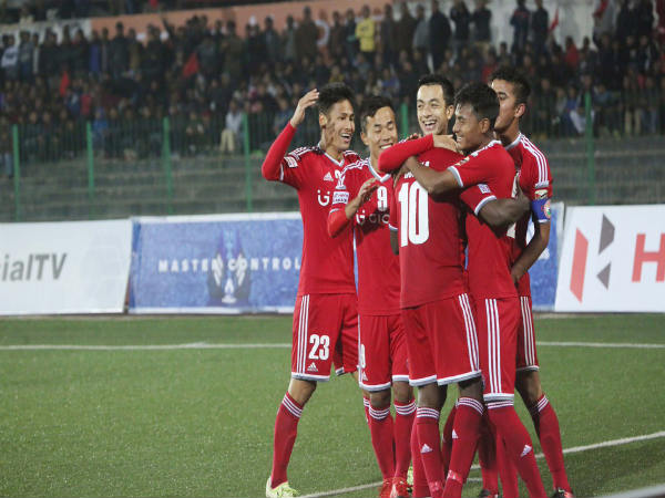 Lajong players celebrate (Image courtesy: Lajong FC Twitter handle)