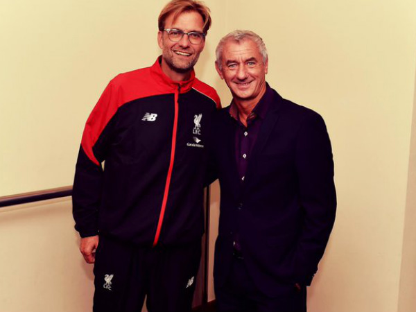 Ian Rush (right) with Liverpool manager Jurgen Klopp (Image courtesy: Ian Rush Twitter handle)