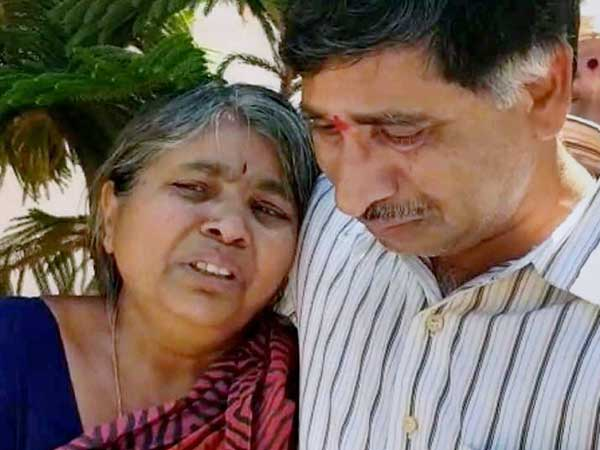 Srinivas Kuchibhotla's parents
