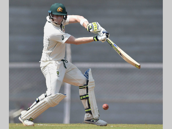 Steve Smith plays a shot en route to century against India A